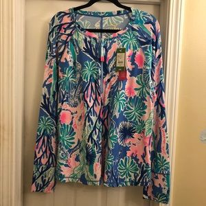 Lilly Pulitzer Luxletic Sunguard Top